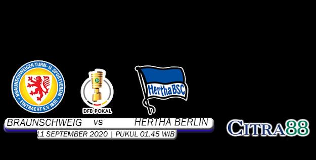PREDIKSI SKOR BRAUNSCHWEIG VS HERTHA BERLIN 11 SEPTEMBER 2020