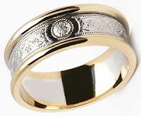 Celtic Wedding Bands - Warrior Shield