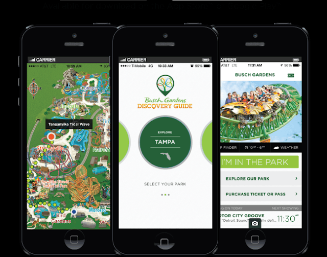 App Busch Gardens em Orlando