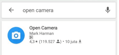 Open Camera Playstore