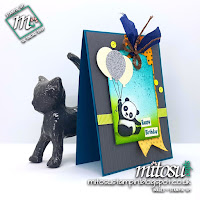 Stampin' Up! Party Pandas SU Card Idea order craft supplies from Mitosu Crafts UK Online Shop