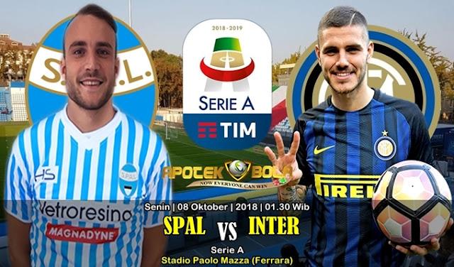 Prediksi  Spal vs Inter 08 Oktober 2018