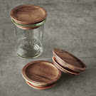 Weck jars with wood lids