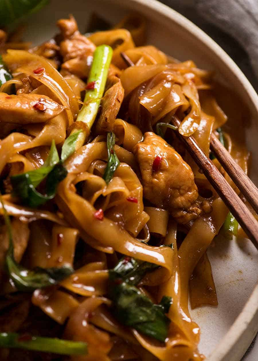 Thai Drunken Noodles  #dinner #yummy #noodles #thaichan #chicken