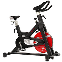 Sunny Health & Fitness SF-B1714 Indoor Cycle Spin Bike, review features compared with SF-B1712, with 44 lb flywheel and belt drive