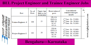 Trainee Engineer and Project Engineer Jobs in Karnataka