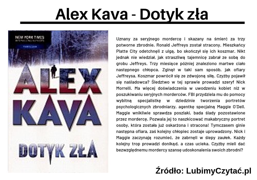 Alex Kava - Dotyk zła, Topki, Marzenie Literackie