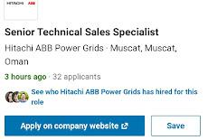 الخميس 17 / 9 / 2020 شركة Hitachi ABB – وظيفة شاغرة