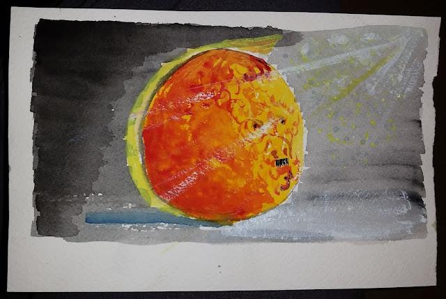 The Orange Hitler - Water color