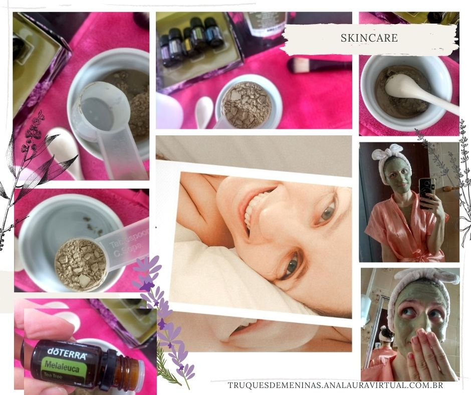 mascara de argila com oleos essenciais para limpeza de pele mista oleosa e hidratacao truquesdemeinas