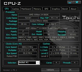 Menggunkan CPU-Z