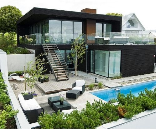 Gambar rumah idaman 1 lantai dan 2 lantai trend 2017 - Casas arquitectura moderna ...