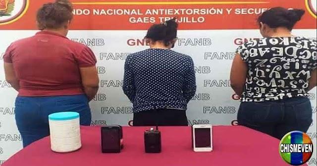 Detienen a tres peligrosas delincuentes en Trujillo