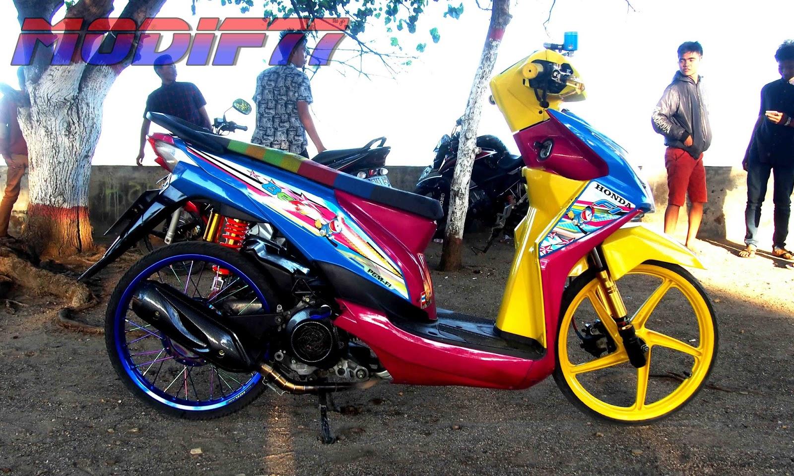 Foto Modifikasi Motor Beat Doraemon | Modifikasi Motor ...