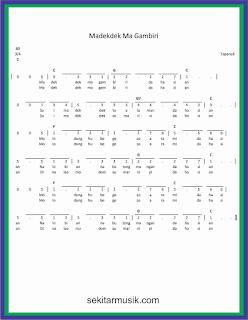 not angka madekdek ma gambiri lagu daerah sumatera utara