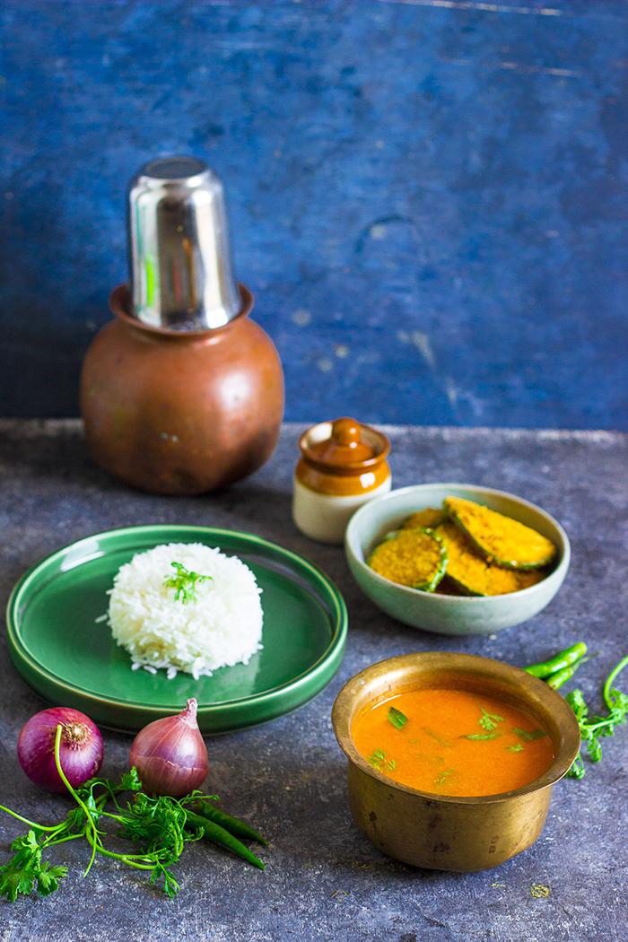 Vegan tomato curry from Maharashtra, Maharshtrian tomato saar