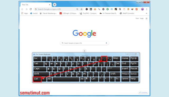 cara mengecilkan tampilan google chrome