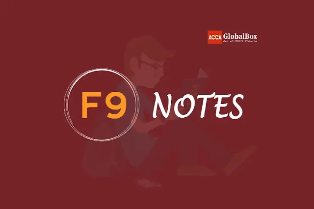 F9 - Self Study Notes | 2021