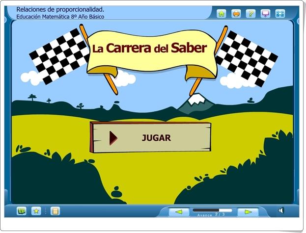 """La Carrera del Saber: """"Relaciones de proporcionalidad"""" (Juego de Matemáticas de Secundaria)"""