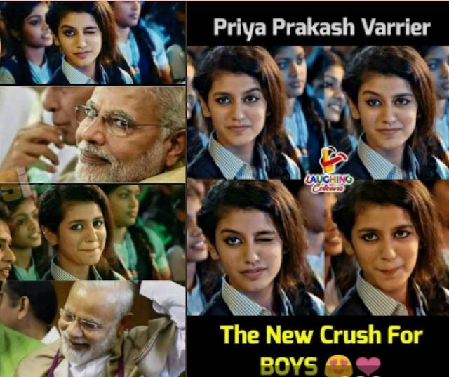Priya Prakash Varrier in hindi