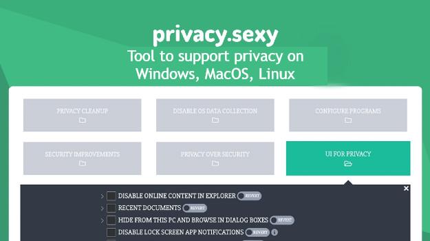 Privacy Sexy - Ο πιο εύκολος τρόπος να απαλλαγείς από ενοχλητικές συνήθειες των Windows και να προστατεύσεις τα δεδομένα σου