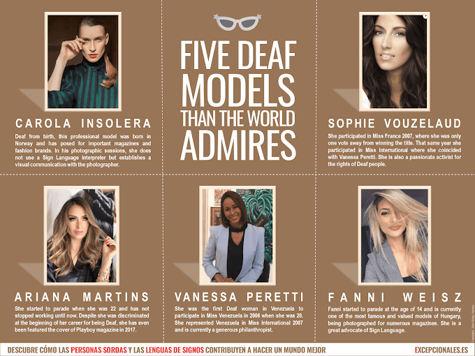 Infographics: Five Deaf Models than the World Admires
