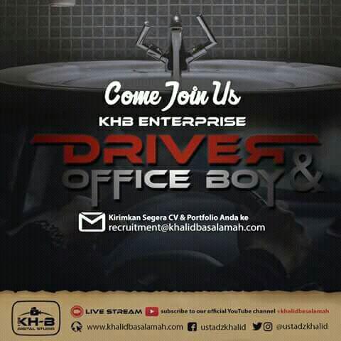 Lowongan Kerja KHB ( Khalid Basalamah ) Enterprise November 2017