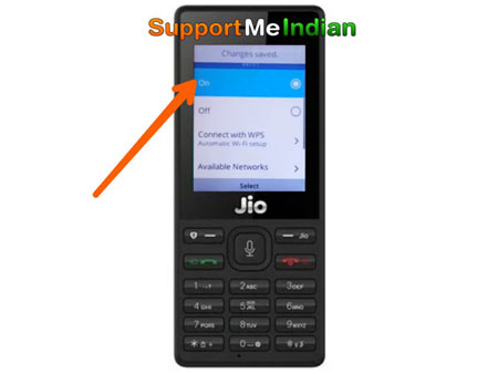 jio phone wifi on