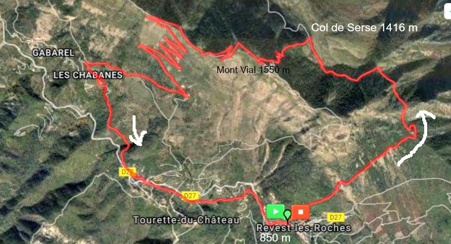 Mont Vial trail