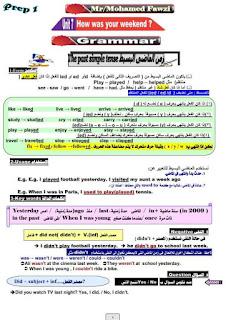 مذكرة شرح وتدريبات قواعد اللغه الانجليزيه للصف الاول الاعدادي الترم الثاني المنهج الجديد 2020 لمستر محمد فوزي