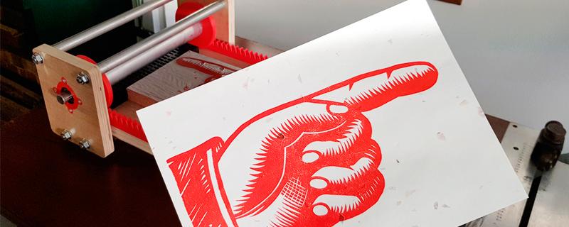 F-Press imprenta tradicional portátil