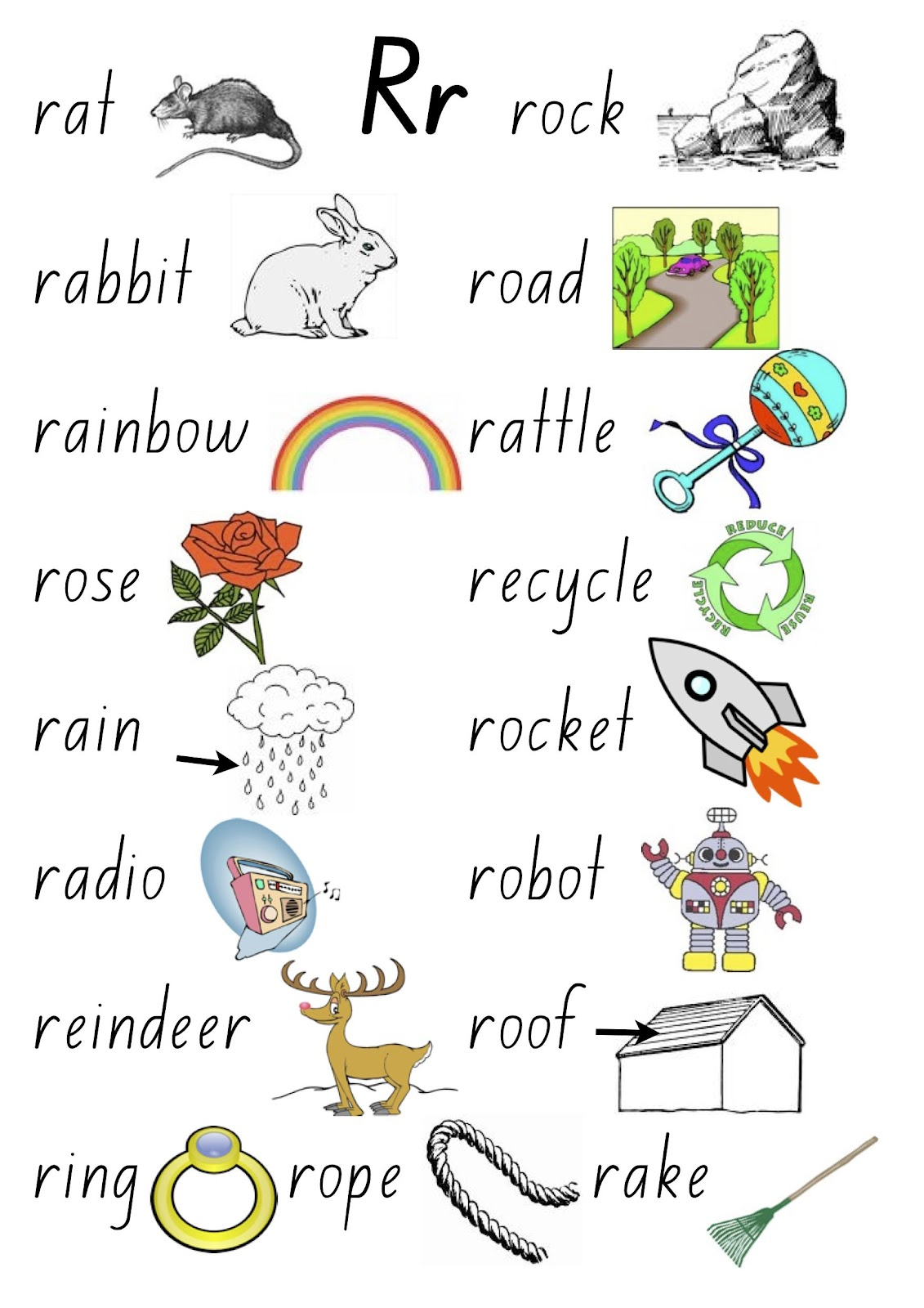 Ke Kindergarten The Letter R