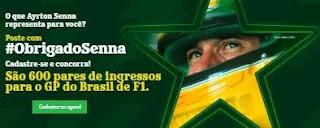 Cadastrar Promoção Heineken Obrigado Senna - 600 Pares Ingressos GP F1 Brasil 2019