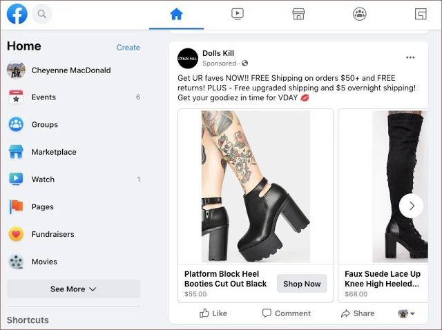 facebook new design