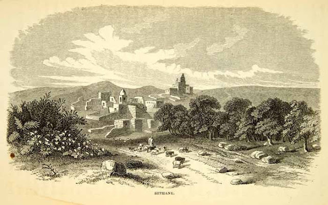 1858. Bethany Al-Eizariya, West Bank Palestine - Wood Engraving