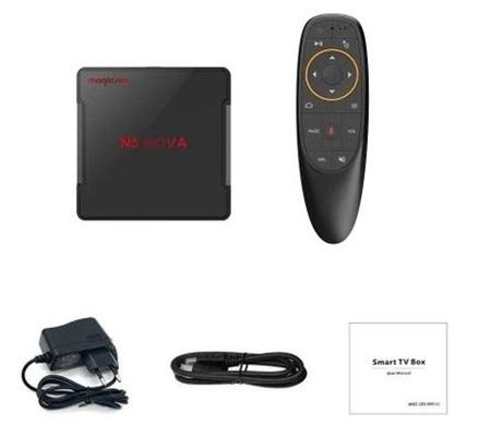 Magicsee N5 NOVA: TV Box 4K con Android 9.0 y control por voz