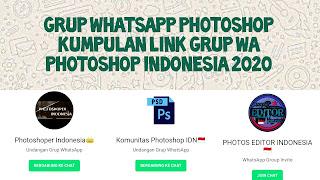 Link grup whatsapp Photoshop