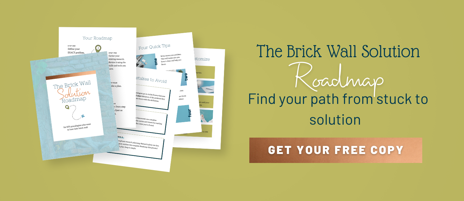 Brick Wall Solution Roadmap from The Occasional Genealogist