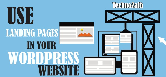 Use landing pages in your WordPress website