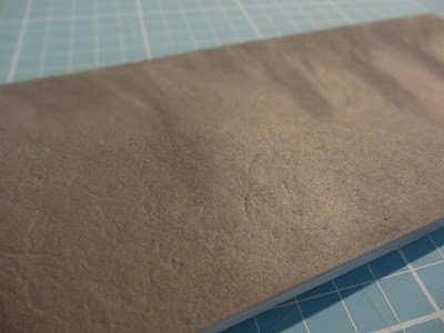 Add texture with a heat gun and alfoil