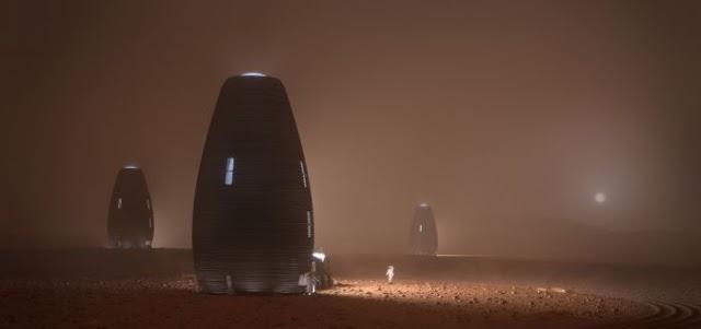 Công bố thiết kế ngôi nhà in 3D trên sao Hỏa của NASA