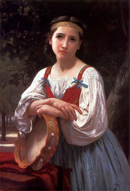 Адольф Вильям Бугро - Цыганская девочка с баскским бубном (1867)