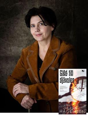 Montage med bild på Lisa Hågensen och bokomslag