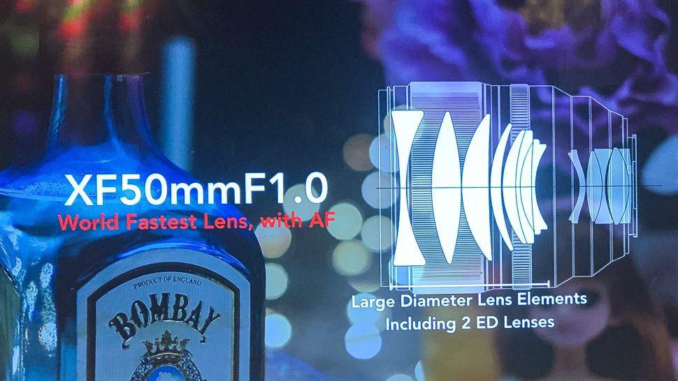 Оптическая схема объектива Fujinon XF 50mm f/1.0