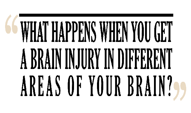 What Happens When You Get a Brain Injury in Different Areas of Your Brain? #infographic