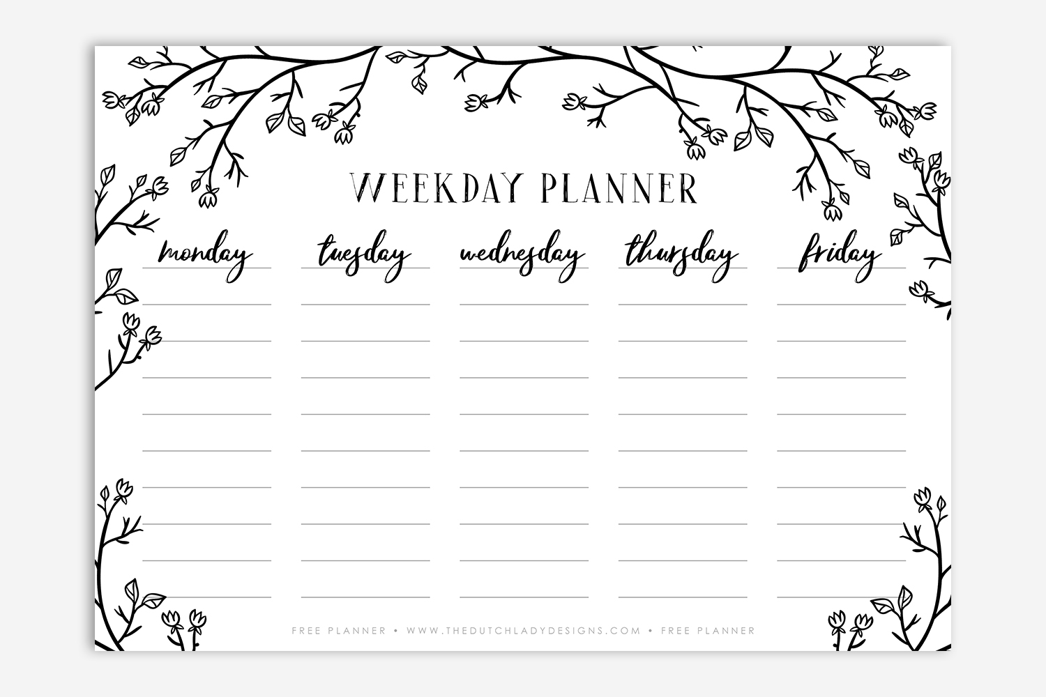 sharing is caring episode 3 free printable weekday planner the
