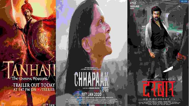 Darbar Box Office Collection Vs Tanhaji Box Office Collection Vs Chhapaak Box Office Collection