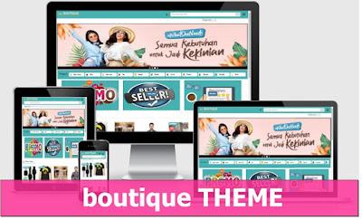 boutique THEME, template toko online blogspot bisa blogging juga