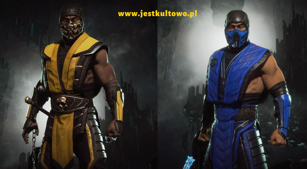 mortal combar choose your mask yellow blue