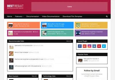 Best-Result-Blogger-Template | Free Blogger Templates For Job Websites